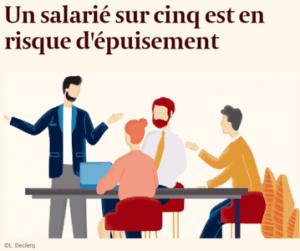 Article echo : Un salarié sur cinq est en risque d'épuisement